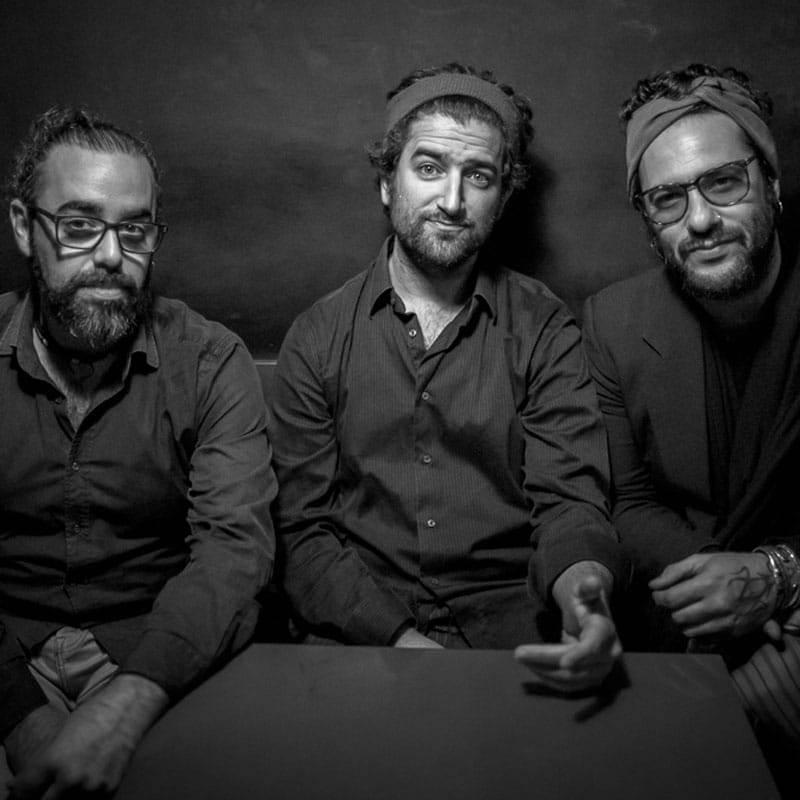 Integrantes del grupo Albert Sanz Trío - Mediterranías