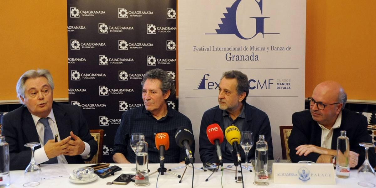 Antonio Jara, Miguel Ríos, Josep Pons y Diego Martínez