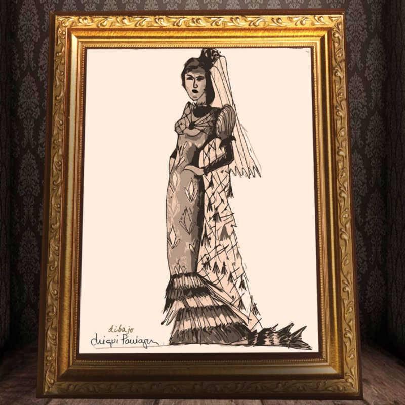 Detalle cartel de la representación teatral El ---- la Bernarda. Jacaranda 11