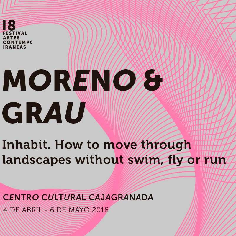 """Cartel de la exposición """"Inhabit"""" de Moreno & Grau"""