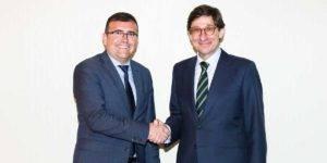 El presidente de CajaGranada Fundación, José Antonio Montilla, y el presidente de Bankia, José Ignacio Goirigolzarri