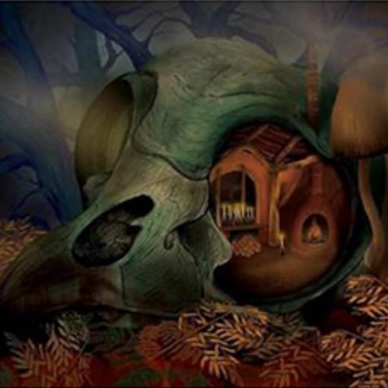 Detalle de una obra de Julio Castillo