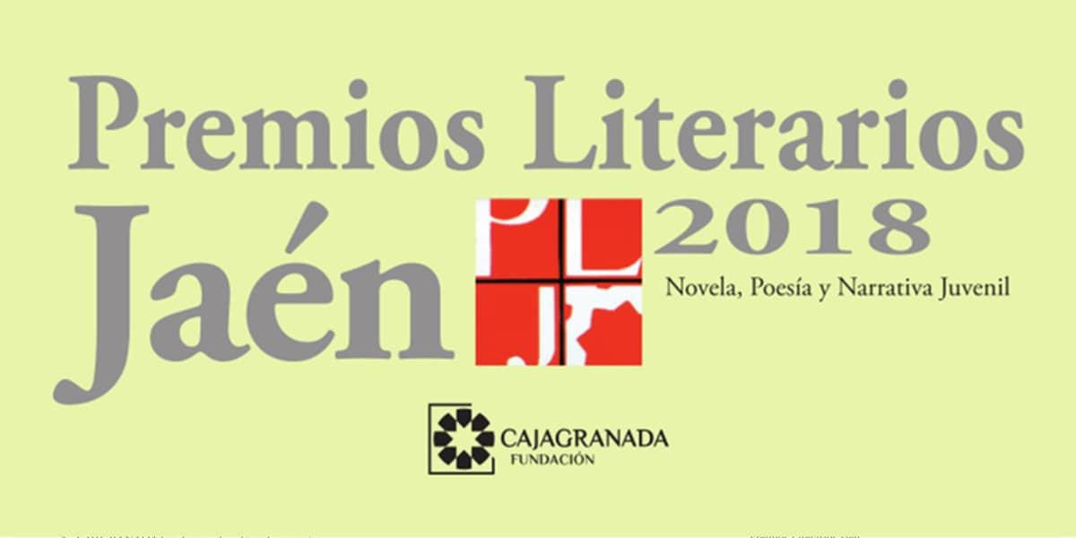 Motivo promocional de los XXXIV Premios Literarios Jaén 2018