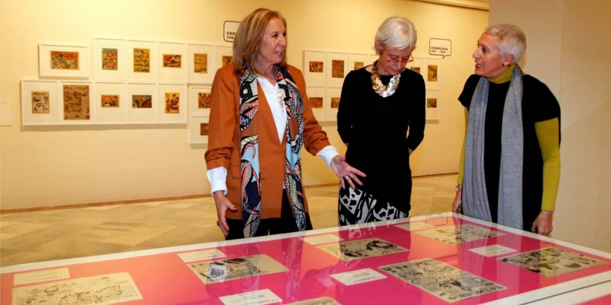 María Elena Martín-Vivaldi, Presidenta de CajaGranada Fundación, Soledad Luca de Tena, Presidenta de la Fundación Colección ABC e Inmaculada Corcho, Directora del Museo ABC