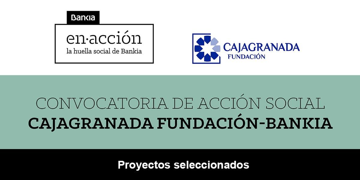 Infografía de la convocatoria de acción social CajaGranada Fundación y Bankia. Proyectos seleccionados
