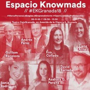 Ponentes del Espacio Knowmads en Granada en 2018