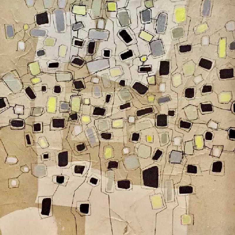 Detalle de una obra de Juan Carlos Lazúen
