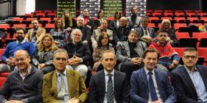 Colaboradores, patrocinadores y participantes del Festival GRAVITE en el Teatro CajaGranada