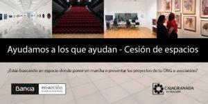 Infografía del programa 'Ayudamos a los que ayudan - Cesión de espacios'