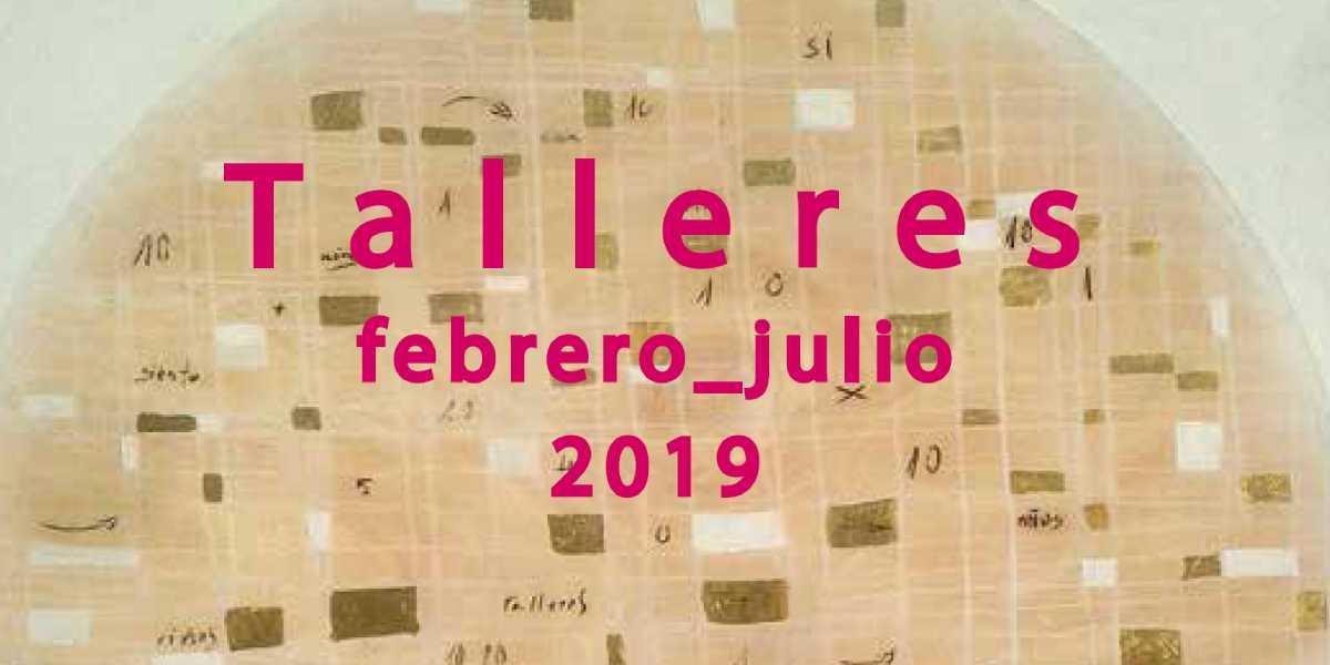 Detalle del cartel de los Talleres CajaGranada. Febrero-julio 2019