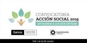 Convocatoria Acción Social 2019 Ayudamos a los que ayudan