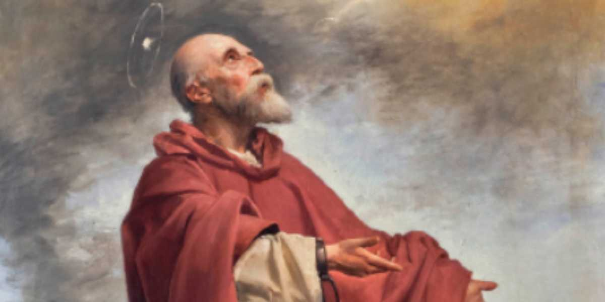 """Detalle de la obra """"Martirio de San Cecilio"""" de Manuel Gómez-Moreno González."""