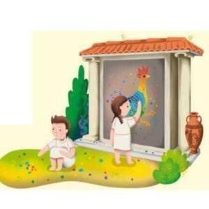 Ilustración de dos niños jugando