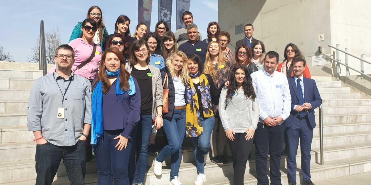 Foto de familia de los participantes en las jornadas de Granada del proyecto mAPP my Europe