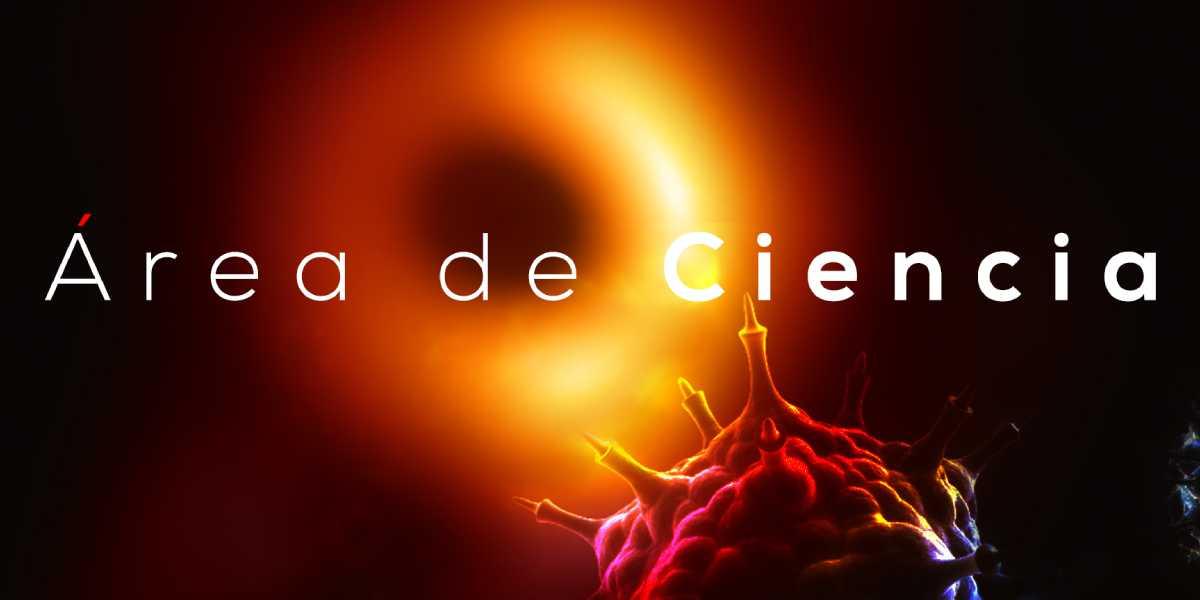 Detalle del cartel del área de la ciencia