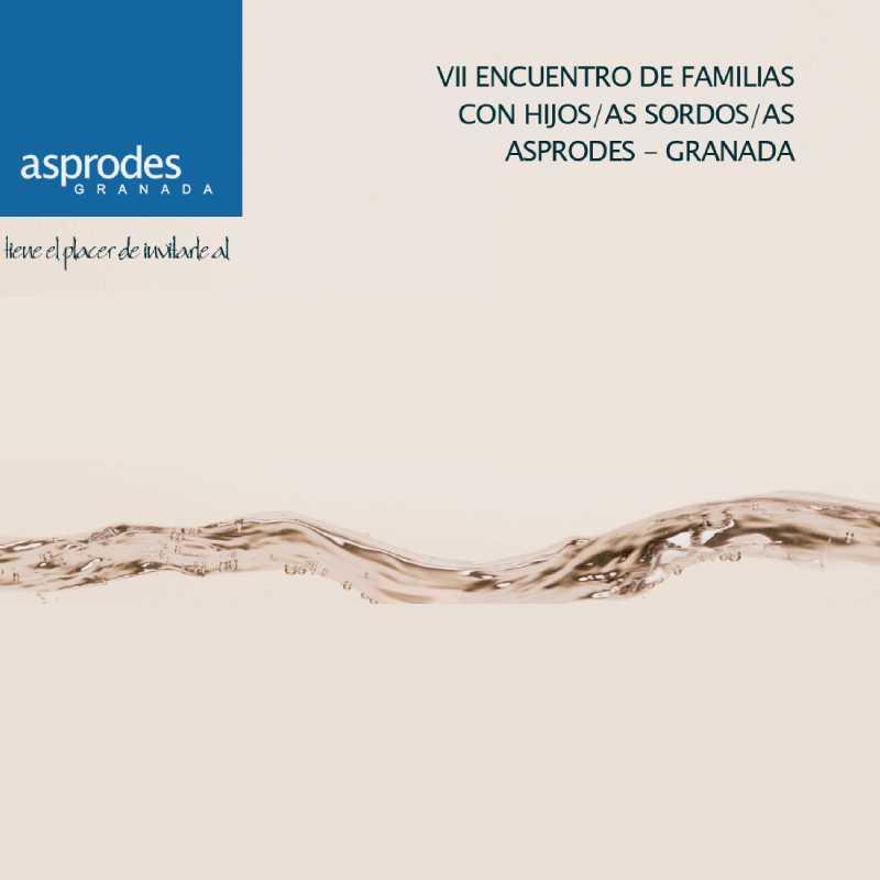 Infografía del VII encuentro de familias con hijos/as sordos/as ASPRODES - Granada