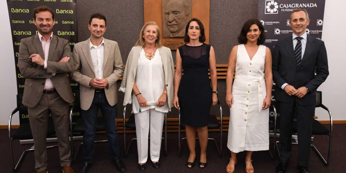 Foto de familia de la entrega del VII Premio de Narrativa Francisco Ayala