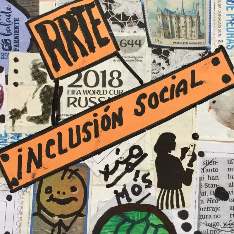Detalle de una obra de Arte postal por la inclusión. III edición de 'Arte, Inclusión, Transformación'
