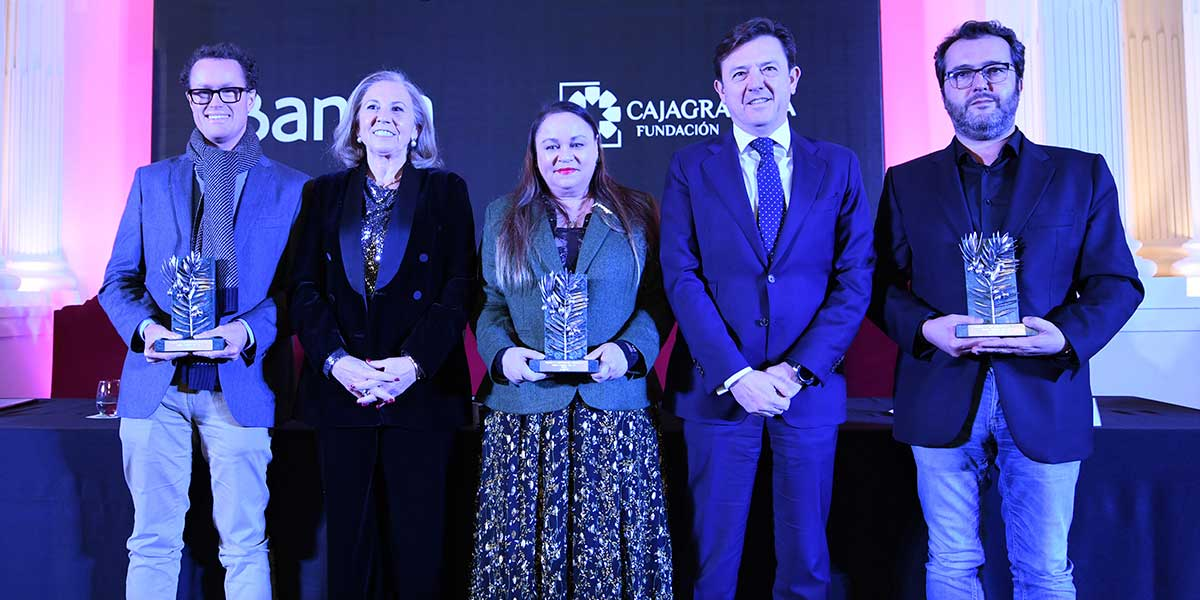 De izquierda a derecha: Rodrigo Olay, María Elena Martín-Vivaldi, Zoé Valdés, Joaquín Holgado y Álvaro Colomer