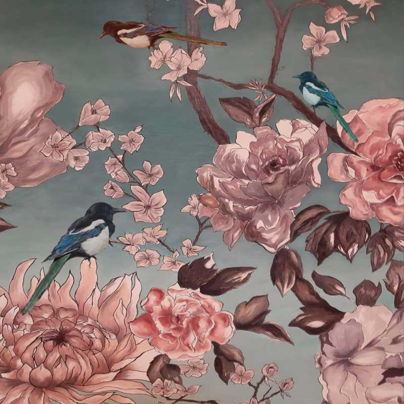 Detalle de una obra de la exposición 'Flora y fauna de la Alhambra'