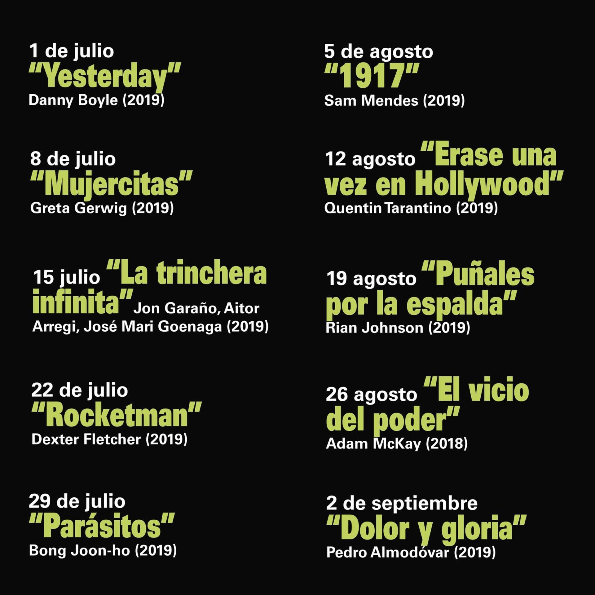Películas del ciclo CineMA Plaza 2020