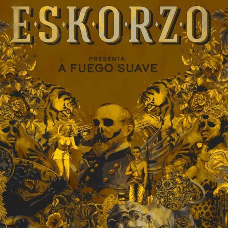 Cartel del concierto de Eskorzo. A Fuego Suave. 19 de febrero