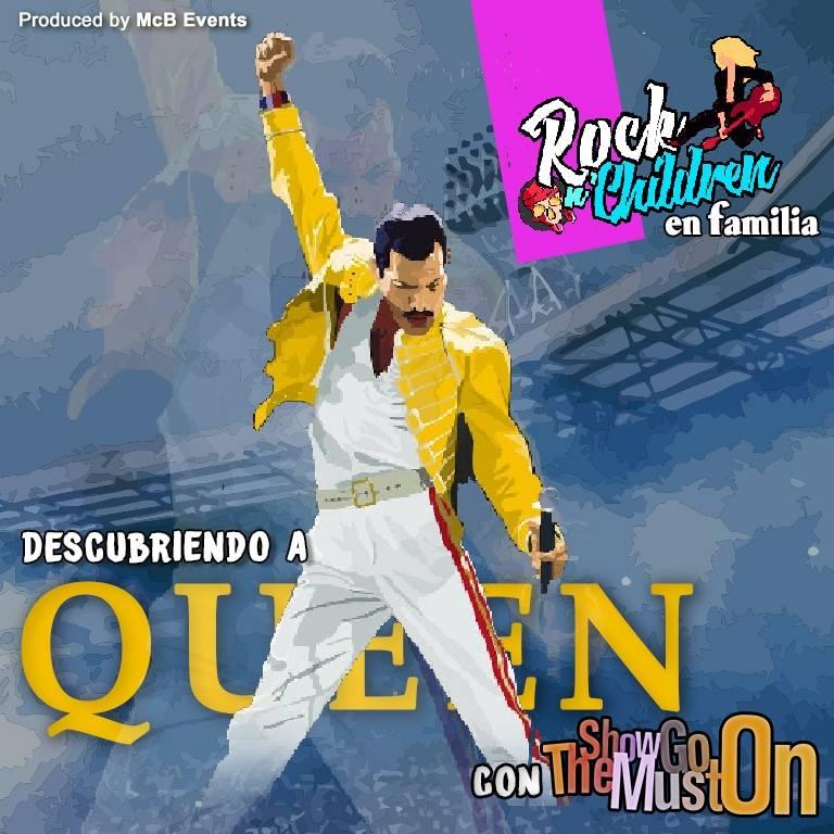 Cartel con una ilustración de Queen
