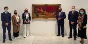 Foto de familia de la presentación de la exposición 'Obras emblemáticas del siglo XIX en la Colección Fundación Cajasol'